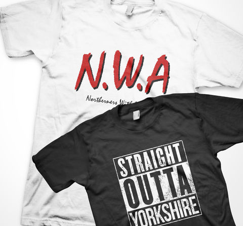 STRAIGHT,OUTTA,YORKSHIRE,and,N.W.A,BUNDLE!,tshirt, tee, yorkshiretee, sheffield, accent, sayings, yorkshire, dtg, printing, FUNNY, JOKE, LMAO, nwa, straight outta compton, dr dre