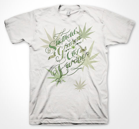 Sheffield:,Greenest,City,in,Europe,Weed, toke, tee shirt, smoking, pot, green, sheffield