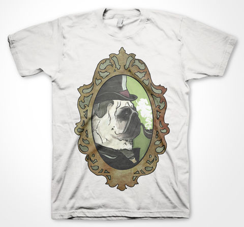 Pug,Charlotte Gittins, tshirt, shirt, graphic, tee, art, pug, cute