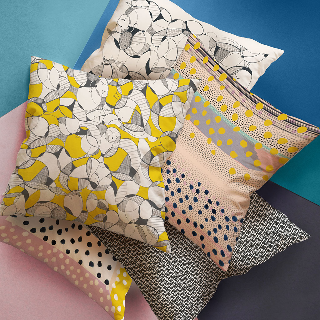Jericho Design House Playful Collection Cushions Fabrics Prints Textiles