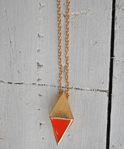 Girl,Next,Door,pendant,necklace, gold, geometric, triangle