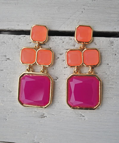 Just,Peachy,Earrings,Kate Spade, drop earrings
