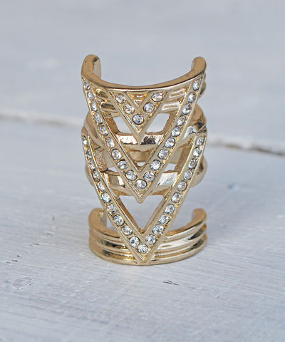 Chevron,Bling,Ring,gold, ring, chevron