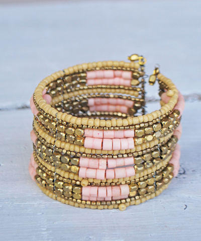 Port,Pink,Bangle,bangle, bracelet, pink, gold, stacking bracelet