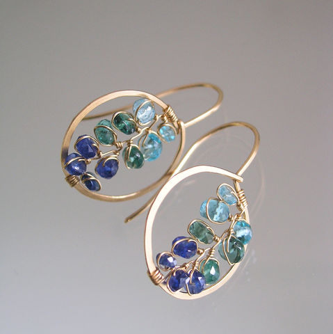 Blue,Gemstone,14k,Gold,Filled,Small,Hoops,,Kyanite,Apatite,Wrapped,Vines,,Made,to,Order,Jewelry,Earrings,Blue_Gemstone,Gold_Filled_Hoops,Wire_Wrapped,Small_Dangles,Ocean_Jewelry,Kyanite_Silver,Small_Apatite,Sapphire_Hoops,Bellajewel,Bella_Jewels,Gemstone_Hoops,Ombre_Blue,14k_gold_filled,argentium sterling silver wire,kyanite,apatite,sapphire
