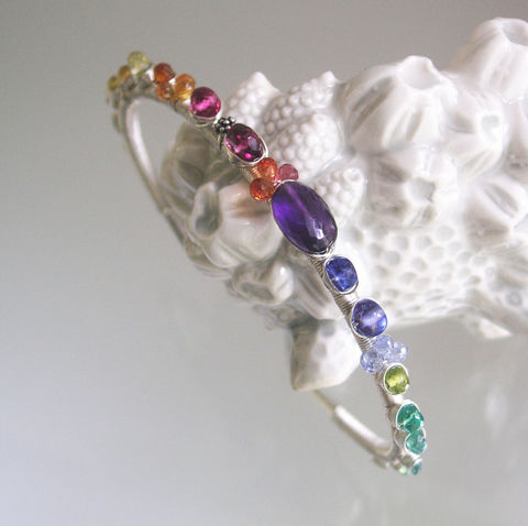 Gemstone,Wire,Wrapped,Sterling,Silver,Cuff,,Colorful,Stackable,Bracelet,with,Amethyst,,Sapphire,,Emerald,Jewelry,Wire_Wrapped,Silver_Cuff,Colorful_Sterling,Stackable_Bracelet,Amethyst_Cuff,Sapphire_Cuff,Rainbow_Cuff,Sterling_Silver_Cuff,Gemstone_Silver_cuff,BellaJewels,Bella_Jewels,Wire_Wrapped_Cuff,argentium sterling silver wire,yellow sap