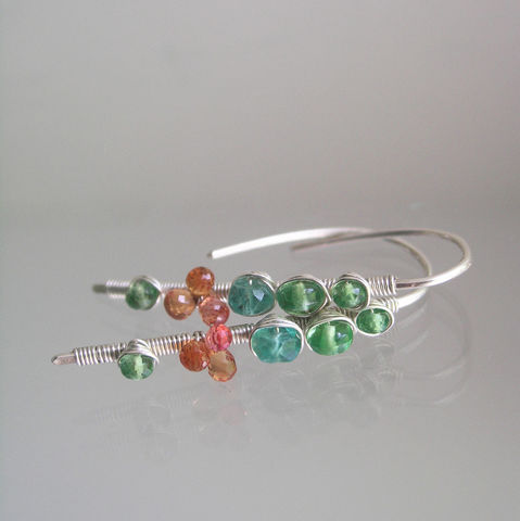 Lightweight,Small,Gemstone,Linear,Earrings,,Green,and,Orange,Sterling,Threaders,with,Tsavorite,,Emerald,,Sapphires,Jewelry,Earrings,Lightweight_Small,Gemstone_Linear,Linear_Earrings,Green_and_orange,Sterling_Threaders,tsavorite_earrings,emerald_earrings,Gemstone_Earrings,Lightweight_stems,Small_Earrings,BellaJewels,Wire_Wrapped,Sapphire_Earrings,argentium sterling sil