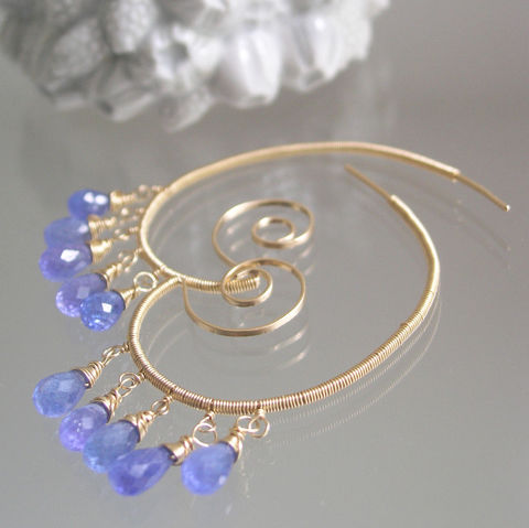 14k,Gold,Filled,Spiral,Earrings,with,Tanzanite,Dangles,,Lightweight,Wire,Wrapped,Gemstone,Chandelier,Hoops,,Made,to,Order,Jewelry,14k_Gold_Filled,Tanzanite_dangles,lightweight_earrings,chandelier_hoops,tanzanite_hoops,gold_filled_earrings,tanzanite_spirals,Bellajewels,Bella_Jewels,purple_gold_hoops,Lightweight_Wire,Wire_Wrapped,Gemstone_Chandelier,14k gold filled wi