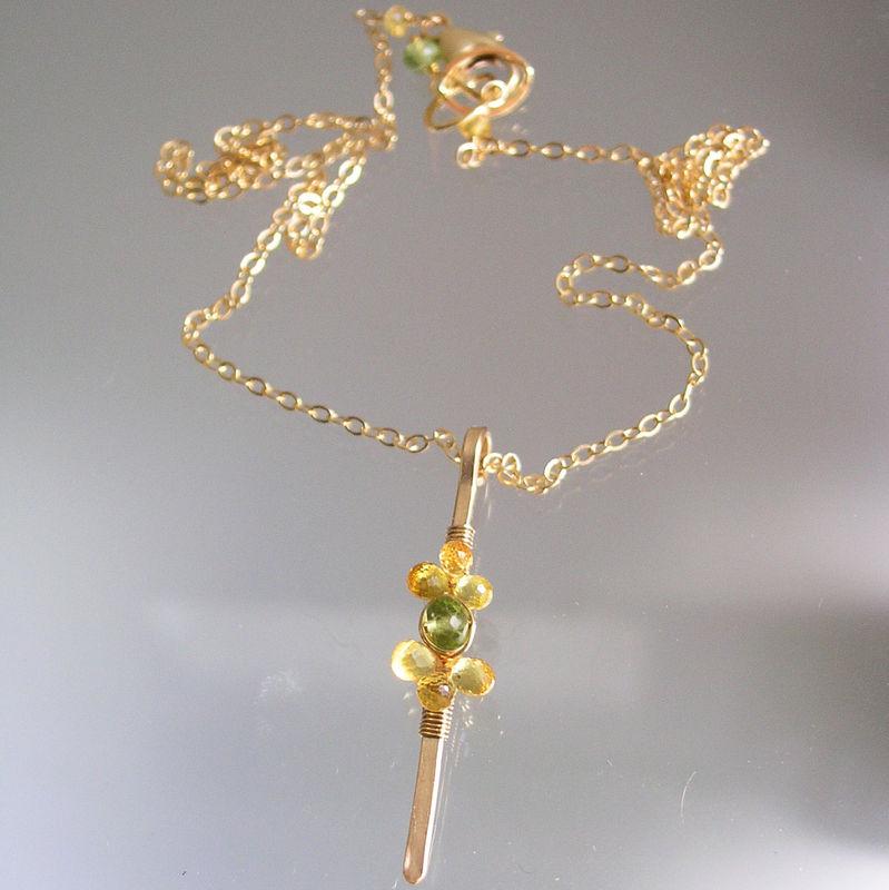 Yellow sapphire minimalist pendant 14k gold filled wire wrapped yellow sapphire minimalist pendant 14k gold filled wire wrapped linear peridot necklace product images aloadofball Choice Image