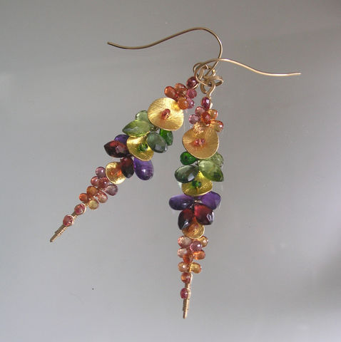 Rainbow,Gemstone,Encrusted,14k,Gold,Filled,Linear,Earrings,with,Sapphire,,Amethyst,,Peridot,,Green,Apatite,Jewelry,Original_Design,Gemstone_Encrusted,Amethyst_Earrings,Peridot_Earrings,Rainbow_Gem_Stems,Bellajewels,Colorful_Gem_Dangles,Dark_Rainbow,14k_Gold_Filled,Linear_Earrings,Sapphire_Earrings,Peridot_Dangles,Wire_Wrapped,14k gold filled wire,verm