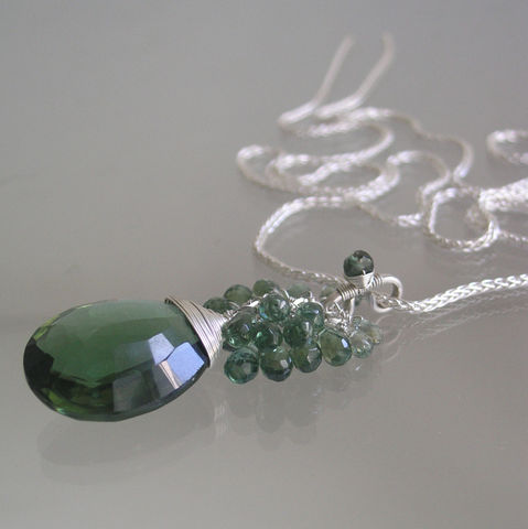 Green,Gemstone,Sterling,Silver,Tassel,Pendant,with,Apatite,,Sapphire,,Quartz,Jewelry,Necklace,Green_Gemstone,Apatite_Cluster,Sage_Sapphire,Original_Design,Silver_Tassel,Tassel_Pendant,Sterling_Apatite,Sterling_Necklace,Deep_Green,Quartz_Dangle,Bellajewels,Green_Gem_Necklace,Apatite_Pendant,sterling silver lobster clasp,sterling si