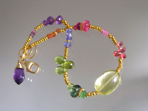 Gemstone,Vermeil,Bracelet,,Stackable,Beaded,Bracelet,with,Lemon,Quartz,,Sapphire,,Peridot,,Tsavorite,,Tanzanite,,Amethyst,Jewelry,Gemstone_Bracelet,Vermeil_Bracelet,Lemon_Quartz,Sapphire,Peridot,Delicate,Artist_Made,Original_Design,Signature_Bracelet,Stackable_Bracelet,Beaded_Bracelet,Layering_Bracelet,Bellajewels,beadalon,gemstones,vermeil beads,14k gold filled lob