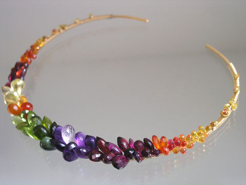 Rainbow,Gemstone,Encrusted,14k,Gold,Filled,Collar,,Choker,with,Sapphire,,Amethyst,,Peridot,,Garnet,,Apatite,,Tourmaline,Jewelry,Necklace,Signature_Collar,Rainbow_Collar,Gemstone_Collar,Encrusted_Choker,Gold_Filled_Choker,Sapphire_Collar,Amethyst_Gold_Collar,Peridot_Gold_Choker,Garnet_Choker,Artist_Made,Original_Design,Bellajewels,handwrought_collar,14k gold filled collar,g