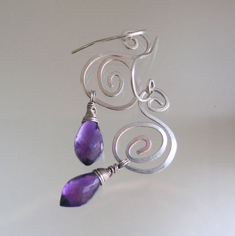 Sterling,Spiral,Earrings,with,Amethyst,,Purple,and,Silver,Nautilus,Dangles,,Small,Lightweight,,Original,Design,,Signature,Jewelry,Sterling_Spiral,Earrings_Amethyst,Purple_and_Silver,Nautilus_Dangles,Original_Design,Small_and,Lightweight,Lightweight_Dangles,Purple_Earrings,Amethyst_Earrings,Spiral_Earrings,BellaJewels,argentium sterling silver,amethyst