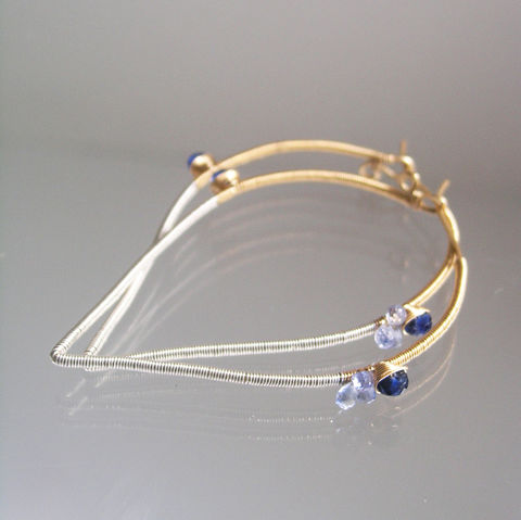 Mixed,Metal,and,Kyanite,Wire,Wrapped,Hoops,with,Blue,Sapphires,,Minimalist,Modern,Design,Jewelry,Earrings,Mixed_Metal_Wire,Wrapped_Hoops,Kyanite_and_Blue,Sapphire_14k_Gold,Gold_Filled_Earrings,Sterling_Dangles,Original_Design,Lightweight_Hoops,Sculptural_Hoops,BellaJewels,Mixed_Metal_Hoops,Kyanite_Earrings,Gold_Silver_Hoops,14k gold filled wi