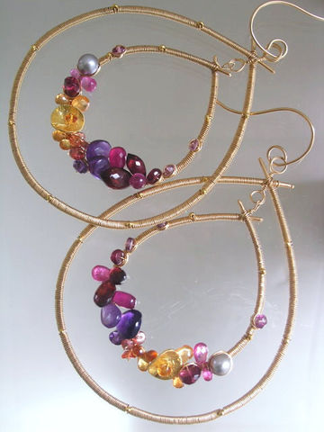 Gemstone,Gold,Filled,Hoops,,Wire,Wrapped,Double,Teardrops,,Statement,,Amethyst,,Ruby,,Tourmaline,,Sapphire,,Garnet,,Original,Design,Jewelry,Earrings,Twilight_Gemstone,Gold_Filled_Hoops,Statement_Jewelry,Amethyst_Earrings,Ruby_Wrapped,Tourmaline_Hoops,Sapphire_Encrusted,Garnet_Hoops,Original_Design,Wire_Wrapped,Double_Teardrops,Bellajewels,Bella_Jewels,gemstones,pearls,vermeil beads,or