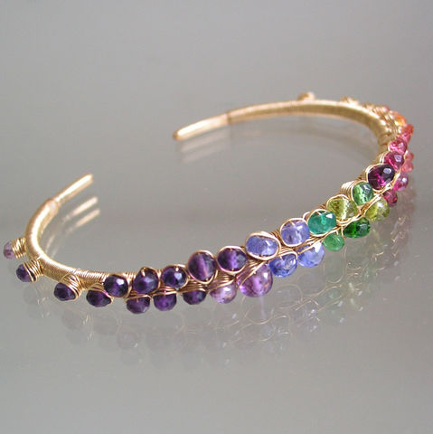 Rainbow,Gemstone,Gold,Filled,Bracelet,,Stackable,Cuff,with,Sapphire,,Amethyst,,Tanzanite,,Ruby,,Made,to,Order,Jewelry,Bracelet,Rainbow_Bracelet,Gemstone_Bracelet,Gold_Filled_Bracelet,Stackable_Cuff,Sapphire_Cuff,Amethyst_Cuff,Tanzanite_Cuff,Ruby_Gold_Cuff,Original_Design,Signature_Cuff,Bellajewels,Rainbow_Cuff,Bella_jewels,tanzanite,amethyst,vesuvianite,tsavorite