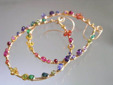 Gemstone,Gold,Filled,Teardrop,Hoops,,Wire,Wrapped,Earrings,,Artist,Made,,Colorful,,Sapphire,,Amethyst,,Tanzanite,,Original,,Made,to,Order,Jewelry,Earrings,gemstone_gold_filled,teardrop_hoops,gemstone_hoops,wire_wrapped,wrapped_earrings,artist_made,colorful_hoops,sapphire_hoops,original_design,bellajewels,bella_jewels,handmade_in_USA,dramatic_earrings,14k gold filled wire,gemstones,sapphire