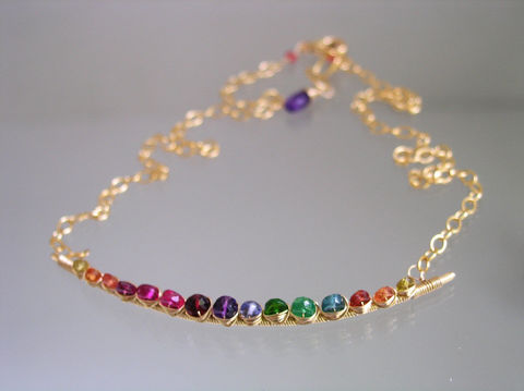 Rainbow,Gemstone,14k,Gold,Filled,Curved,Bar,Necklace,,Choker,with,Sapphire,,Tsavorite,,Ruby,,Amethyst,,Tourmaline,,Made,to,Order,Jewelry,Necklace,Bar_Necklace,Gemstone_Necklace,Gold_Filled,Rainbow_Choker,Gold_Filled_Choker,Delicate_Necklace,Sapphire_Necklace,Tsavorite_Necklace,Ruby_Necklace,Artist_Made,Original_Design,Bellajewels,14k gold filled wire,14k gold filled lobste