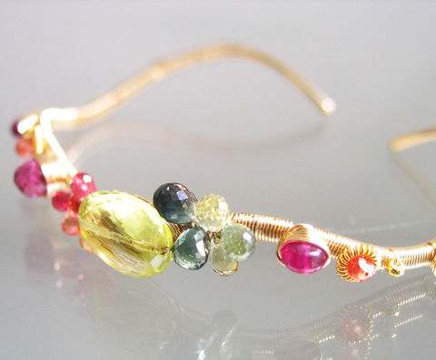 Lemon,Quartz,14k,Gold,Filled,Wavy,Cuff,,Multi,Gemstone,Stackable,Bracelet,with,Green,Tourmaline,,Vesuvianite,,Ruby,,Sapphire,Lemon Quartz 14k Gold Filled Wavy Cuff, Multi Gemstone Stackable Bracelet, Green Tourmaline Cuff, Vesuvianite Cuff, Ruby and Sapphire Cuff