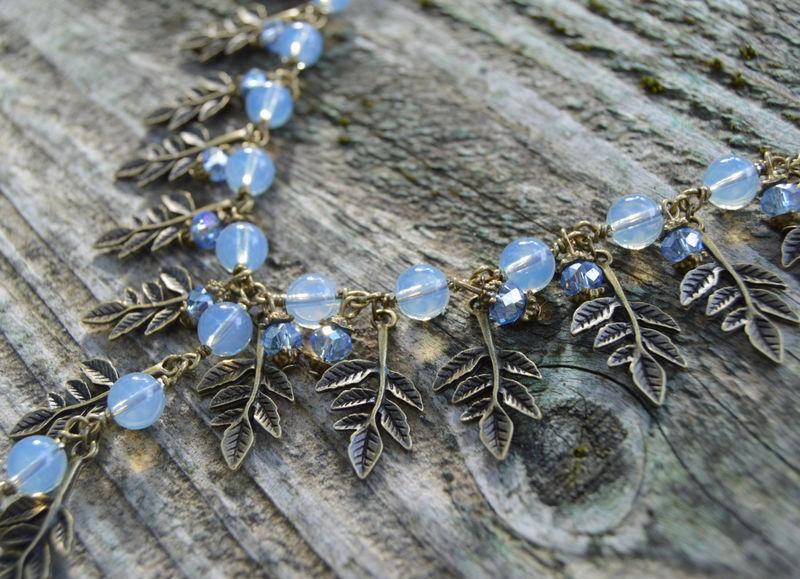 Dark Mori Goth Grunge Rainbow Gemstone Crystal Witch Jewelry Evening Star Amulet Blue Labradorite Necklace in Electroformed Copper