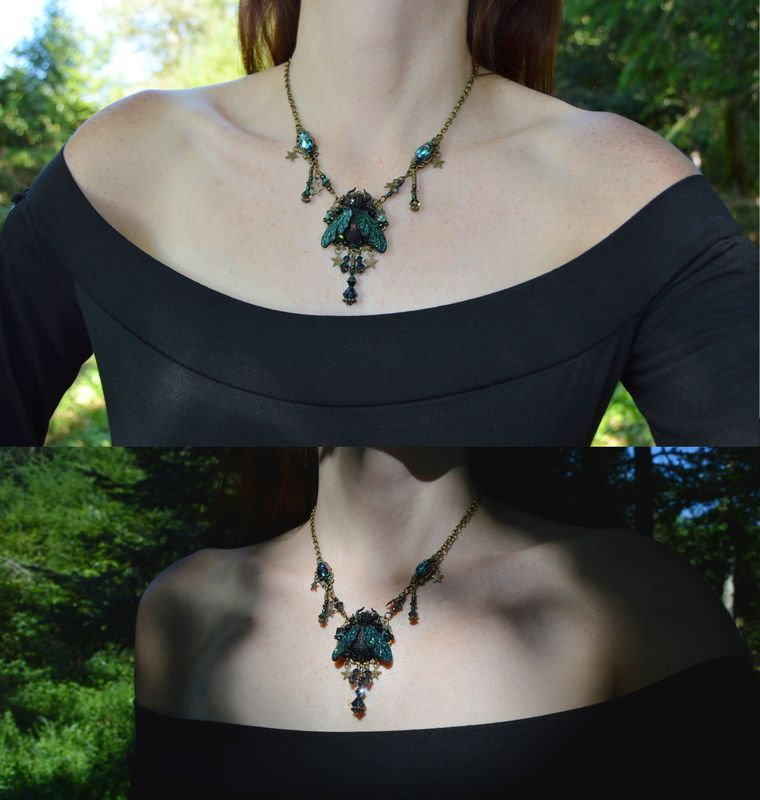 Witch pendant Witchcraft jewelry Gothic Jewellery Occult necklace #423