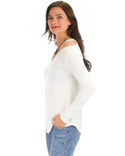 Open Shoulder Top Plus Size Sleeve Open Shoulder Top