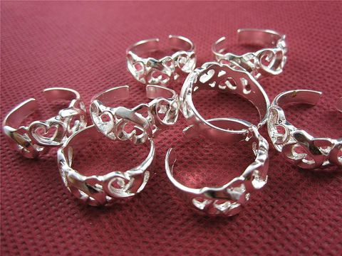 Heart,Toe,Rings,.925,Silver,silver toe ring, heart toe ring, sterling toe ring, .925 toe ring, .925