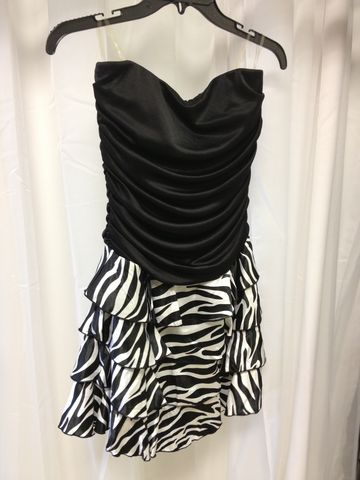 Strapless,Zebra,Print,Party,Dress,Zebra Print, Animal Print, Black, Dress, Little Black Dress, Animal Print Dress, Zebra Dress, Prom Dress, Homecoming Dress