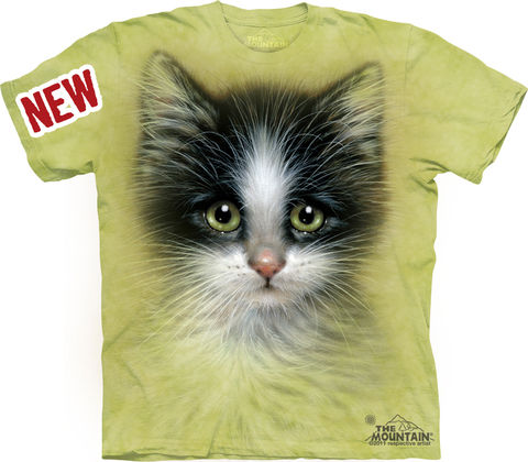 The,Mountain,Green,Eyed,Kitten,Eco-Friendly,T-Shirt,The Mountain T-Shirt, Kitten T-Shirt, Kitty Shirt, Cat Shirt, Cat T-Shirt, Cat Eco-Friendly T-Shirt, Eco-Friendly T-Shirt, Green T-Shirt
