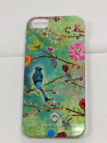 Devieta,Bird,Perched,on,Branch,with,Flowers,IPhone,5,Case, Devieta Phone Case, Devieta IPhone 5 Case, IPhone 5 Case, IPhone 5 case with Flowers, IPhone 5 Case with Bird on Tree Branch, IPhone 5 Case with Tree Branches
