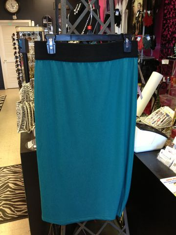 Long,Silk,Pencil,Skirt,(Zipper,Back),Knee-Length Skirt, Pencil Skirt, Teal Skirt, Teal Pencil Skirt, Zipper Back Skirt, Sipper Back Pencil Skirt