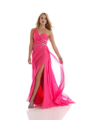 Morrell,Maxie,Hot,Pink,,One,Shoulder,Beaded,Prom,Dress,Morrell Maxie Hot Pink, One Shoulder Beaded Prom Dress, Morrell Maxie, Prom Dresses, Hot Pink Prom Dress, Hot Pink Formal Gown, Hot Pink Military Ball Gown, Hot Pink Formal Evening Gown