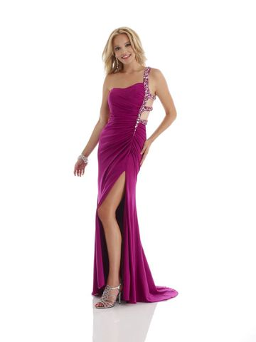 Morrell,Maxie,Magenta,,One,Shoulder,Open,Back,Beaded,Prom,Dress,Morrell Maxie Magenta, One Shoulder Open Back Beaded Prom Dress, One Shoulder Open Back Beaded Military Ball Gown, One Shoulder Open Back Beaded Evening Gown, One Shoulder Open Back Beaded