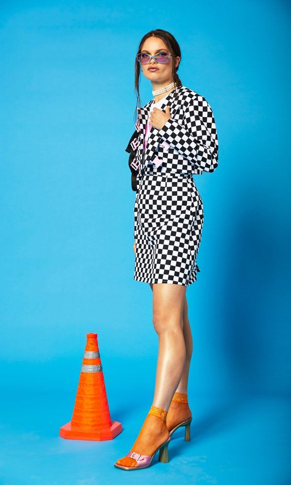 Checkerboard Crop Jacket - product images  of