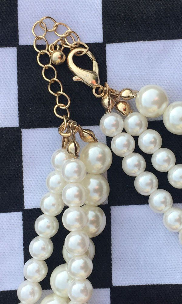 Faux Pearl Choker - product images  of