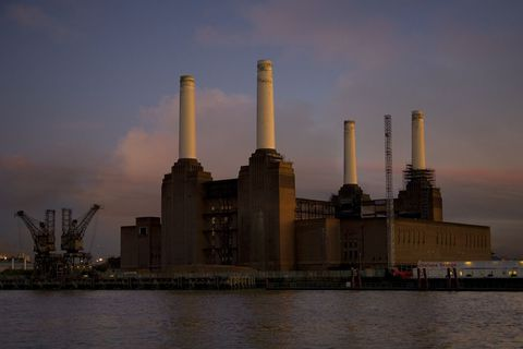 Setting,Sun,Bob Lambourne, Battersea Power Station, London, Photography, Shot Collective