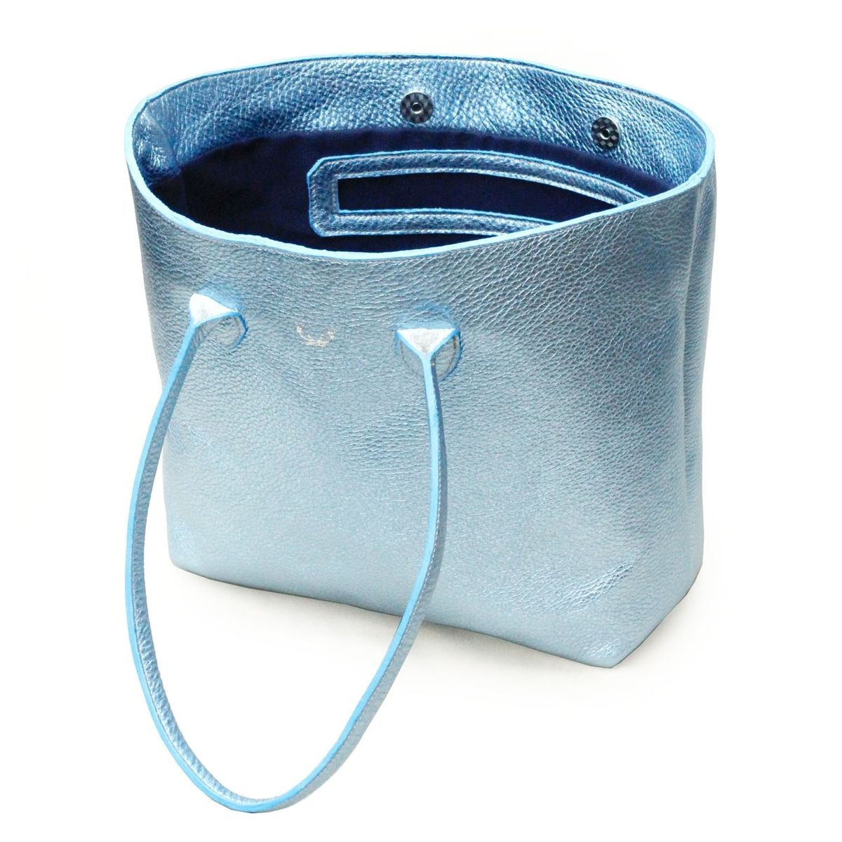 *NEW* Metallic Blue Opal Tote Bag - product images  of