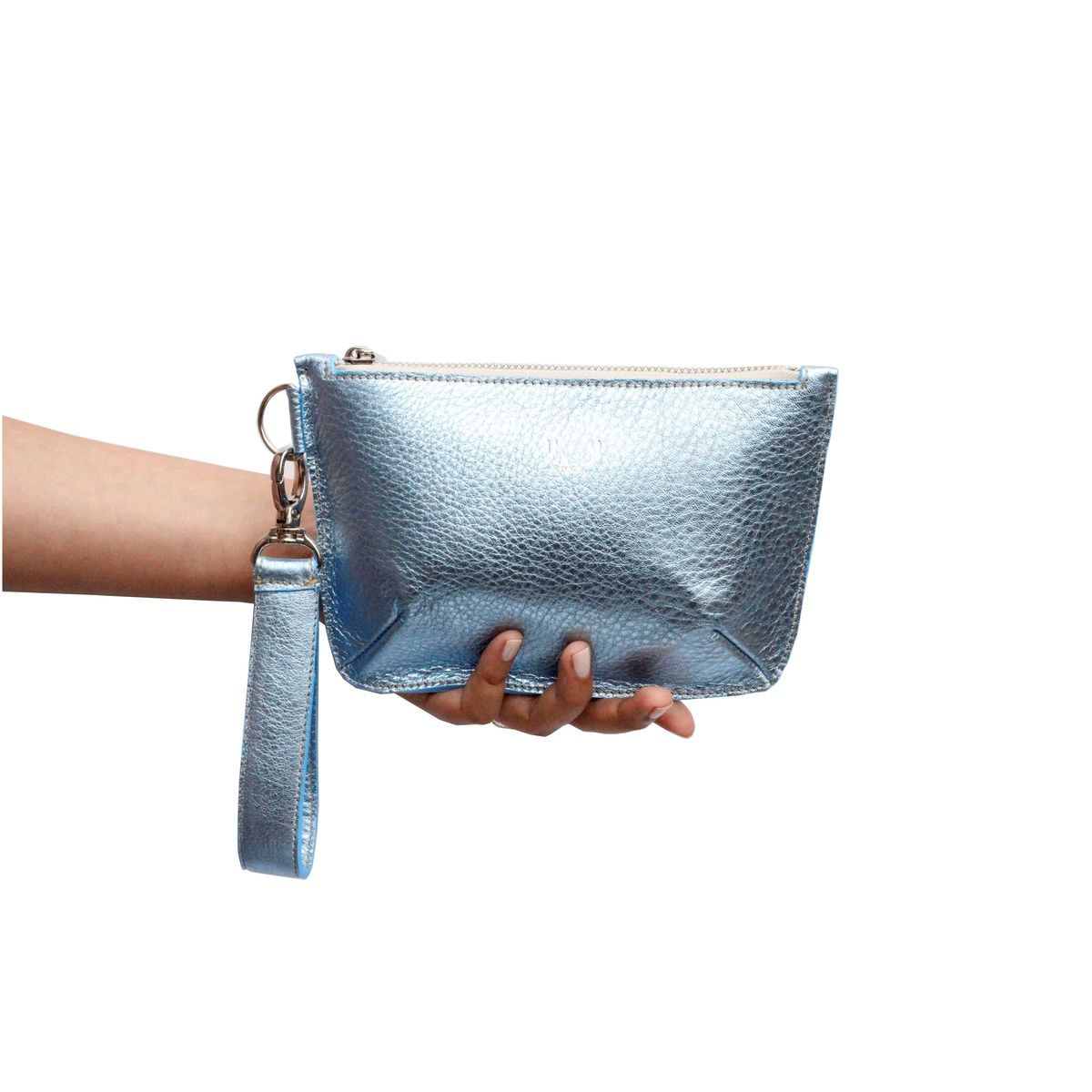 *NEW* Metallic Ice Blue Mini Sienna Clutch Bag - product images  of