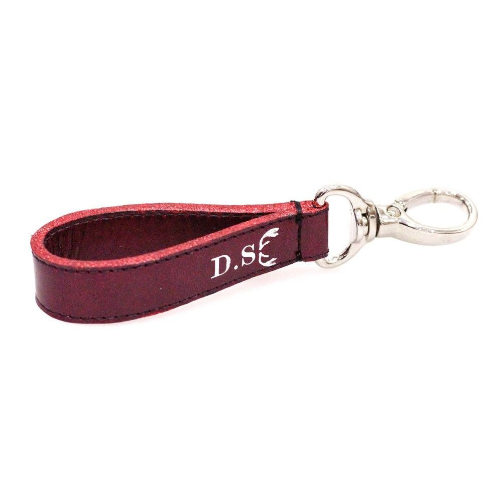 Red Glitter Personalised Keyring - product images  of