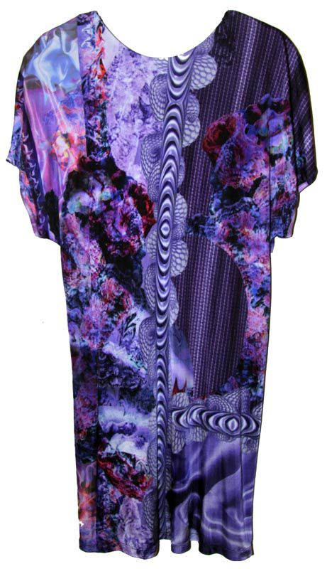 Purple Rococo Print Silk Jersey tunic by Belle Sauvage - product images  of 