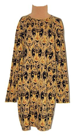 Leopard,jacquard,knit,long,jumper