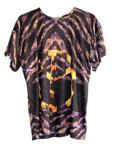 Peace,Tee,Leopard by Belle Sauvage Spring Summer 2013 Peace Tee. Ready to wear Fashion. Belle Sauvage London.