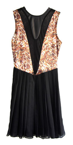 Deep,V,dress,Safety,Pins,Leopard by Belle Sauvage Spring Summer 2013 Deep V dress Safety Pins. Ready to wear Fashion. Belle Sauvage London.