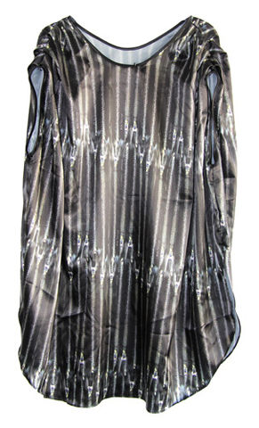 Poncho,Dress,Satin,Zips,Leopard by Belle Sauvage Spring Summer 2013 Poncho Dress Satin Zips. Ready to wear Fashion. Belle Sauvage London.