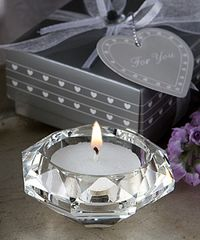Crystal,Diamond,candle,holder,favours
