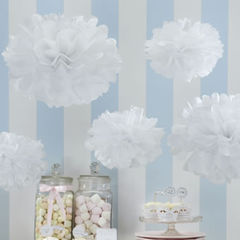 Tissue,Paper,Pom,Poms,-,Vintage,Lace,Christmas favours, pom poms, wedding decoration, vintage wedding