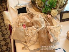 Vintage,Natural,Favour,Bag,with,lace,trim,natural favours; favour bags, vintage favours, vintage favour bags