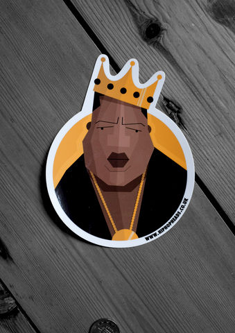 Vinyl,sticker,2,notorious, big, biggie, hip hop, rapper, rap, dale, edwin, murray, slaps, dope, dopiness, music, vinyl, die-cut, die cut