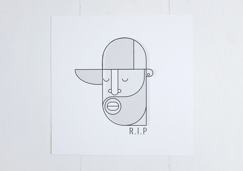Donuts RIP print (unframed) - product images  of
